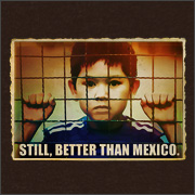 STILL, BETTER THAN MEXICO. (IMMIGRANT CHILD IN CAGE)