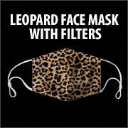 LEOPARD FACE MASK WITH FILTER POCKET